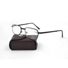 새 도착 검은 금속 접는 독서 안경 가죽 케이스 접이식 독서 안경 안경 디옵터 무료 배송 d5