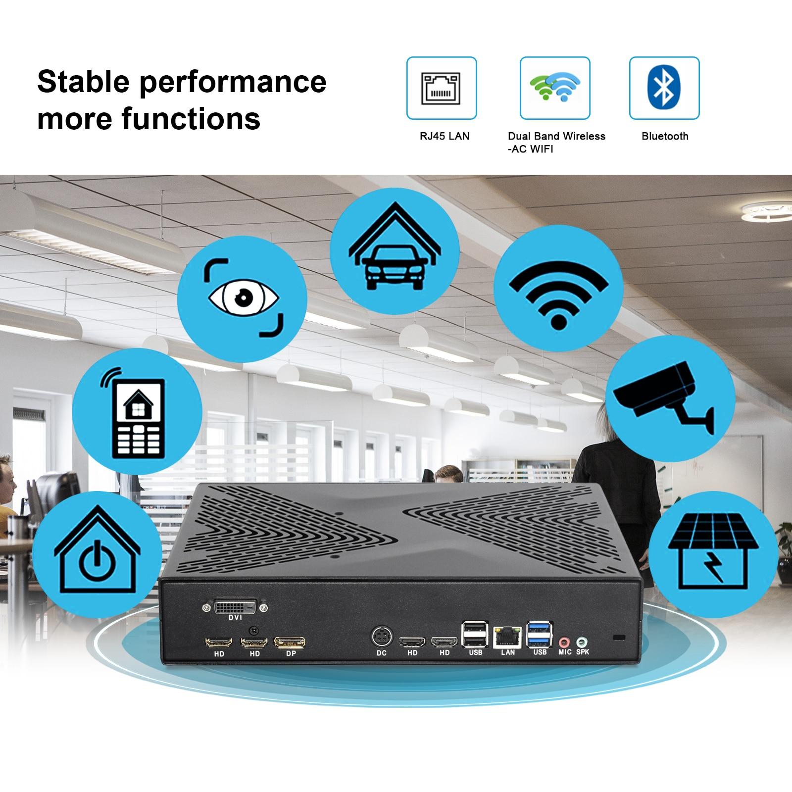 Factory Intel 9th Gen gamer computer GTX1650 4G Video card Core i7 i5 i3 processor mini PC Mutil HDMI DVI DP 8K M.2 Wifi AC