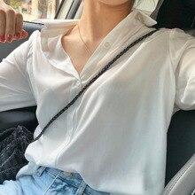 Korean Chic Gentle Milk Soft Blue Very Fairy Blouse Design Sense Niche V-neck Chiffon Shirt Women's