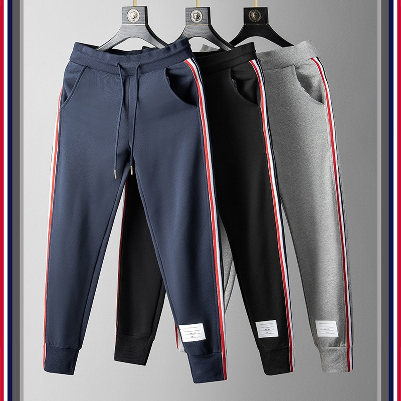 TB FOG Spring/Fall Striped Cotton Pants Sporty casual Men's Pant pant style
