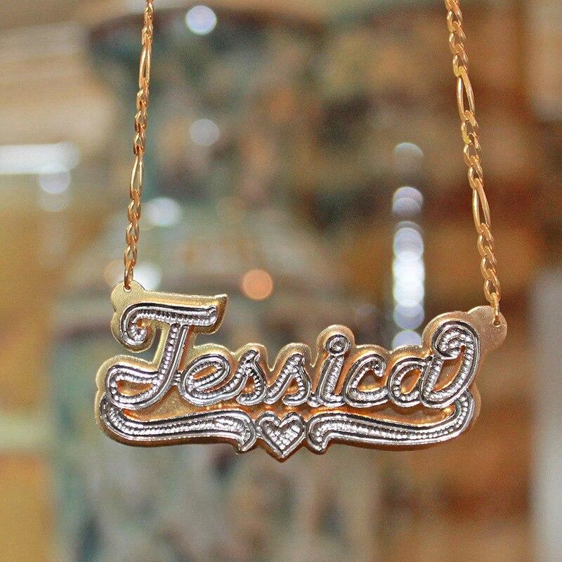 Индивидуальное ожерелье с буквой, двойное двухцветное ожерелье с именем таблички, ожерелье с именем под заказ, резные чокеры, буква прописи буква за буквой