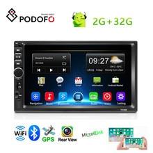 "Podofo Android 8,1 2 Din Auto Multimedia Player7 ""Auto Stereo GPS Auto Radio Für Volkswagen Nissan Hyundai Kia toyota radio Auto"