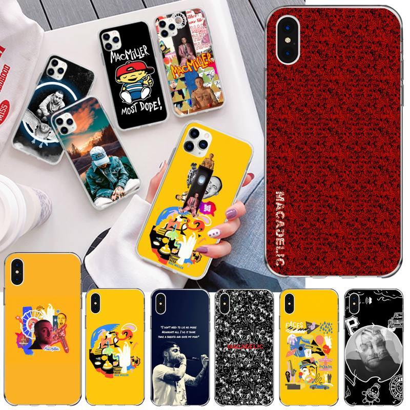 Dabieshu rapero Mac Miller negro teléfono caso casco para iPhone 11 pro XS MAX 8 7 6 6S Plus X 5S SE 2020 XR cubierta