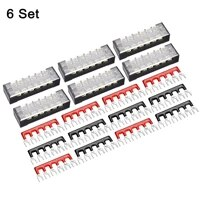uxcell 6set 6p dual rows 600v 15a iron terminal block 400v 25a terminals strip