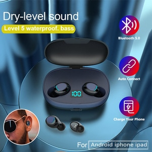 Wireless BluetoothV5 Headphones IPX5 Waterproof Sport Wireless Headset LED Power Display Bluetooth Earphones Charge Smart Phone