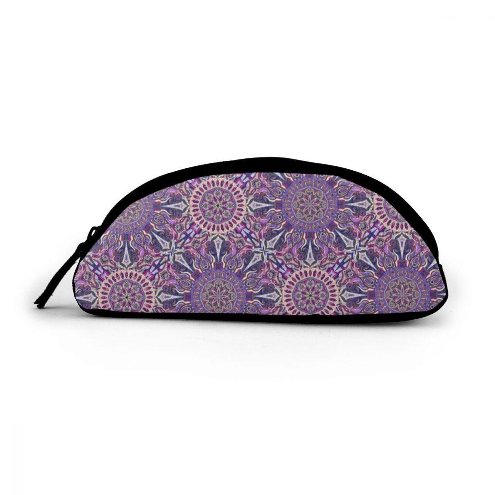 NOISYDESIGNS lindo estuche para lápices escolares ornamental mágico púrpura estuche para lápices floral estuche para lápices stifte tasche estuche para cosméticos