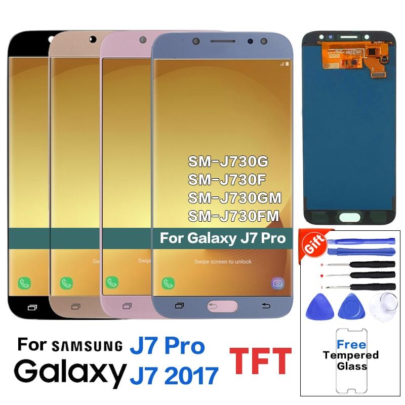 Для samsung J7 Pro 2017 J730 SM-J730F дисплей ЖК-экран Замена для samsung Galaxy J7 Pro J730G J730GM Мобильный телефон lcd