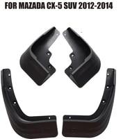 4 pcs front rear car mudflap for mazda cx 5 cx5 suv 2012 2014 fender mud flaps guard splash flap mudguards accessories yc101054