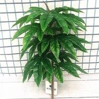 Petit Banyan artificiel dinterieur 40CM  fausses plantes  Branches de palmier en plastique vert  accessoire de decoration pour hotel  balcon  bureau  maison