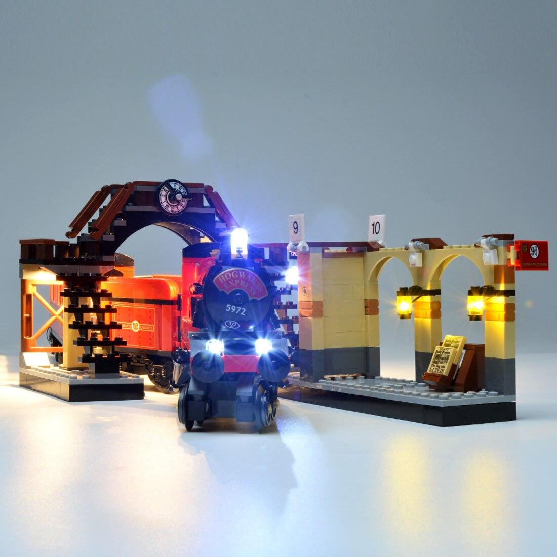Kit de accesorios de luz LED USB para Hogwarts Express 75955 (solo luz LED, Kit sin bloqueo)