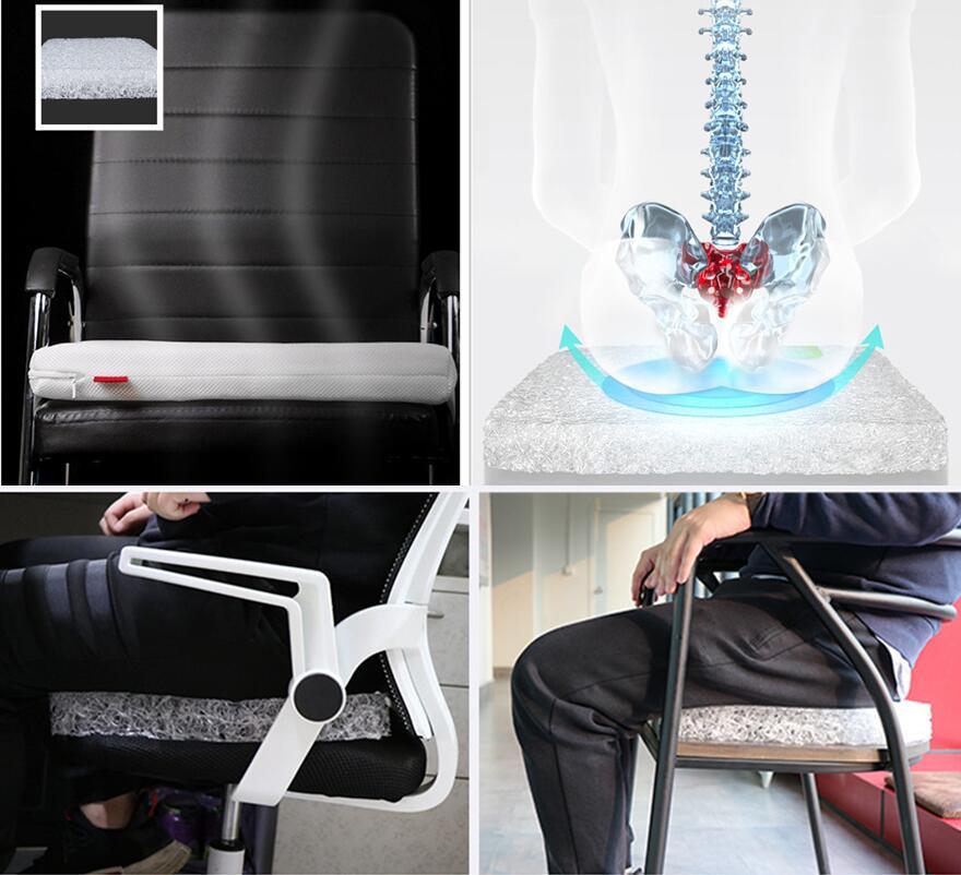 5/3 سنتيمتر سماكة التكنولوجيا الجديدة 4D الهواء الألياف مكتب تنفس الذاكرة وسادة مقعد يمكن غسلها وسادة مقعد حجم 45x4 5 سنتيمتر/40x40CM