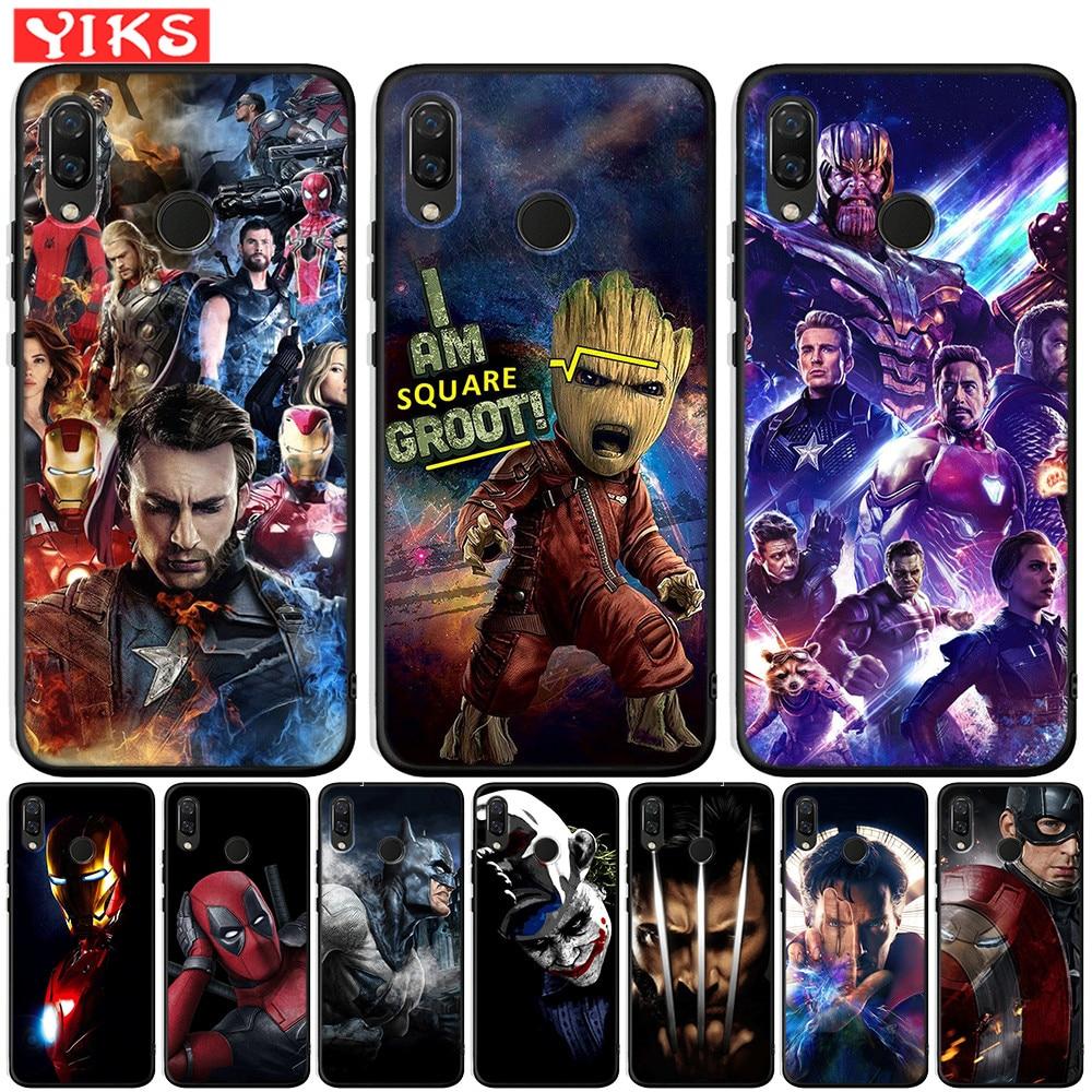 Avengers Marvel Tharos Groot capitaine housse pour Honor 8 9 10 10i 20 Lite Pro étui pour Honor 8X 8C 8S 7A 7X V20 View 20 Fundas