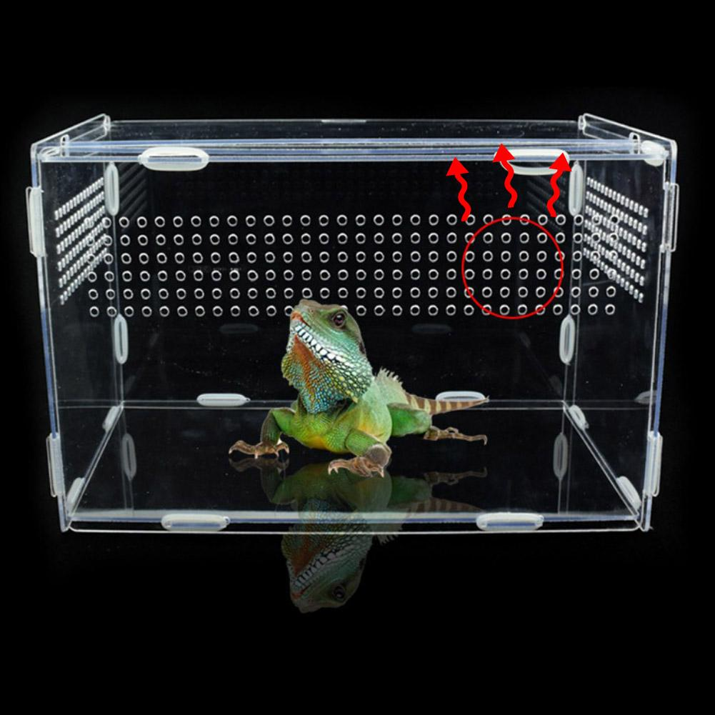 Large Acrylic Terrarium Reptile Box Durable Transparent Pet Supplies For Cold Blooded Animals Reptil