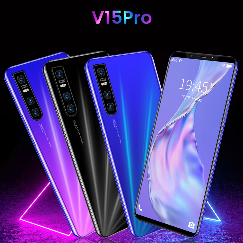 Cheapest Smart Phone V15 Pro 5.72 Inch Full Screen Smartphone Android 4.4 512MB RAM+4GB Unlocked Dual Sim Mobile Phone