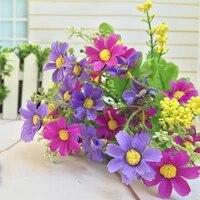 Mini marguerite artificielle en soie  1 Bouquet  28 tetes  fleur douce  decor de fete de mariage  accessoires de decoration pour la maison