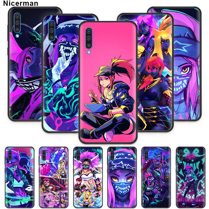 lol kda kaisa Ahri akali Case for Samsung Galaxy A01 A50 A70 A71 A51 A90 5G A80 A60 A40 A30 A20e A10 s Soft Phone Cover