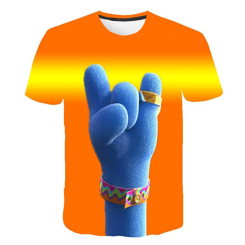 Camisetas De elfo peludo para chicas, camisetas de la gira mundial de películas de Trolls, camisetas divertidas de trol para niños, camisetas 3D para niños de 4 a 14 años