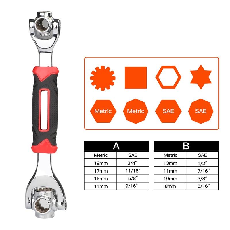 Купить с кэшбэком AIRAJ 52-in-1 Tiger Wrench Sleeve, 360 Rotation Ratchet Socket Wrench Adaptable to Screws Household Auto Parts Repair Tools