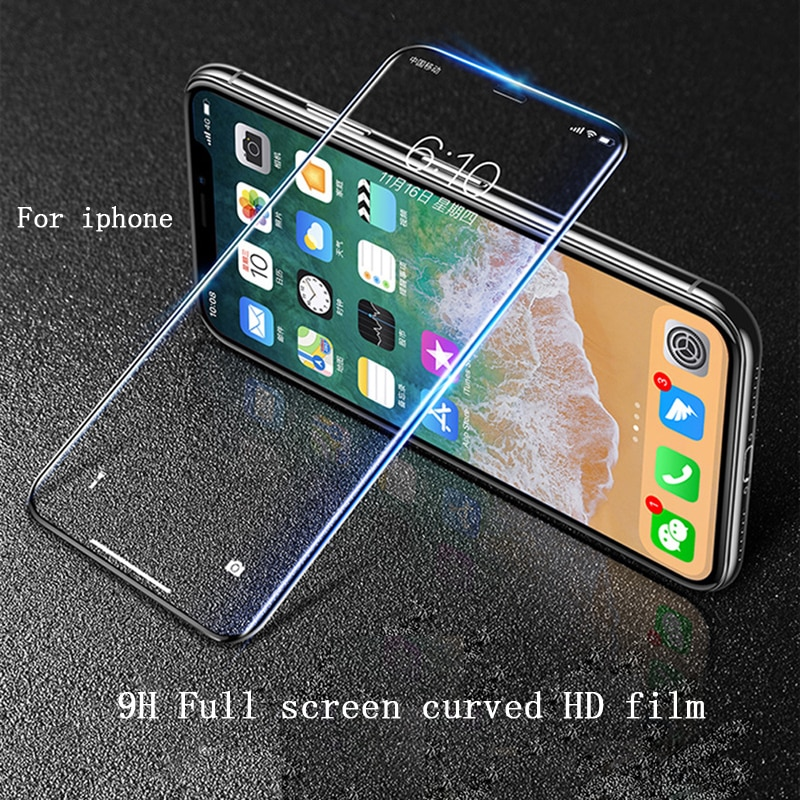 Glass screen protector Full cover HD film For iphone 6/7/ 8 iphone X iphone 11