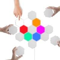 Lampe quantique LED lampe hexagonale modulaire tactile sensible applique murale magnetique decoration creative applique murale pour la maison salon