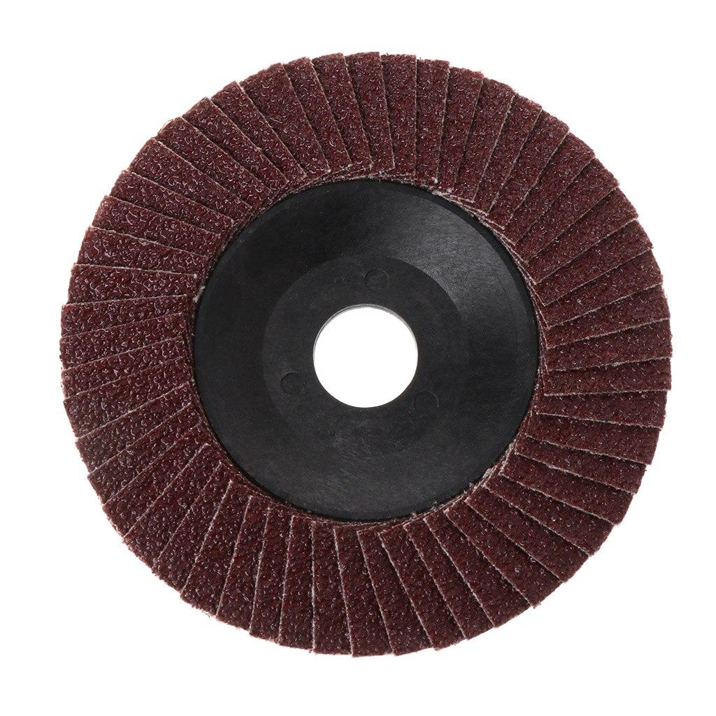 Disco de pulido abrasivo de 100mm, disco de molienda de cambio rápido, aleta de lijado para amoladora de granalla, 80 granalla