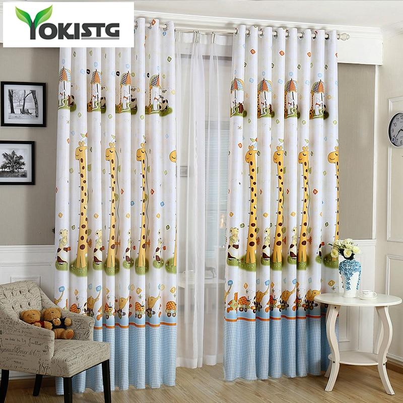 Cortinas de cortina modernas YokiSTG jirafas, cortinas opacas gruesas para ventana para niños, sala de estar, dormitorio, tela para niños, Rideaux