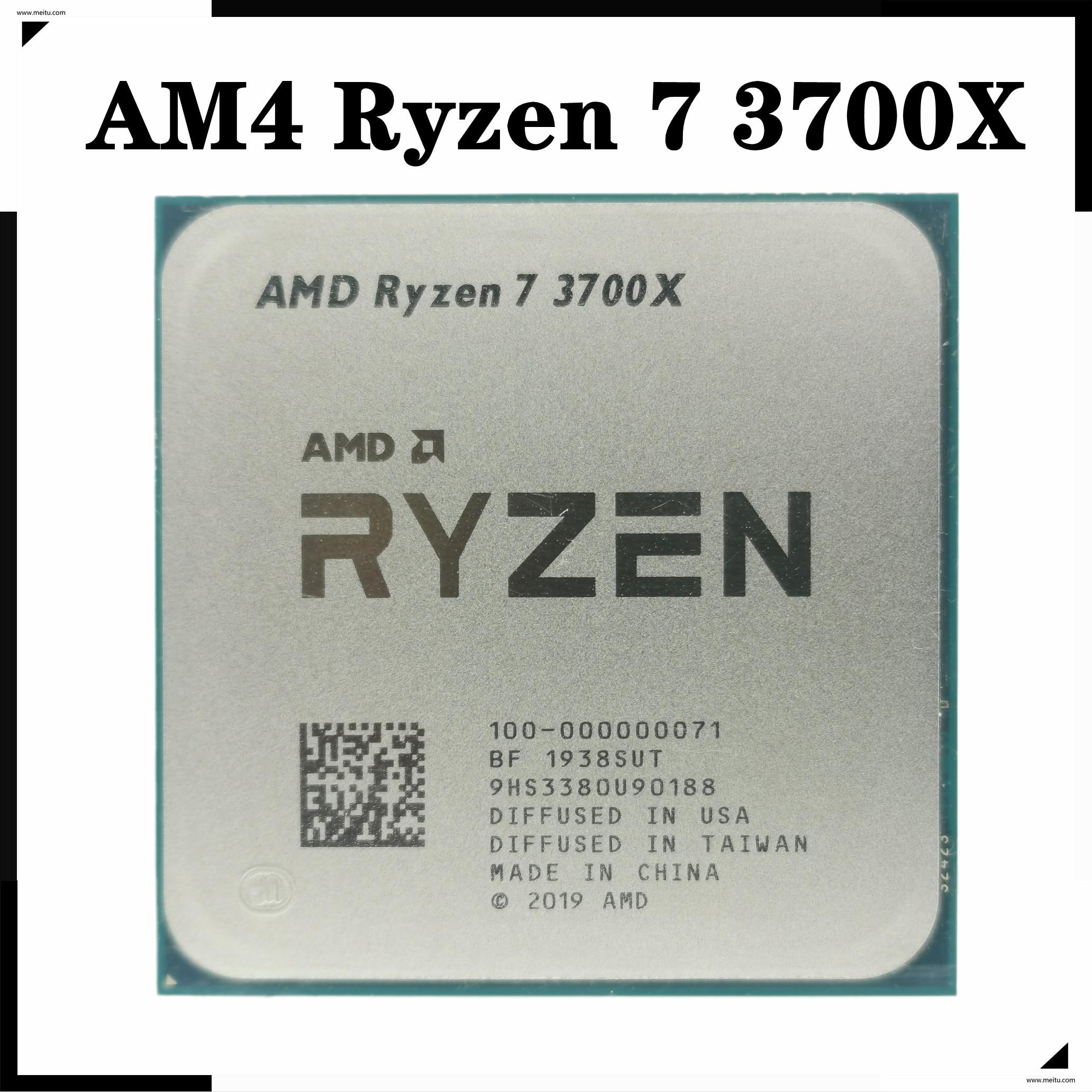 [해외] AMD Ryzen 7 3700X R7 3700X 3.6 GHz 8 코어 16 스레드 CPU 프로세서 65W 7NM L3 = 32M 100-000000071 소켓 AM4