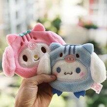 Ma mélodie cannelle chien Anime en peluche porte-monnaie enfants mignon dessin animé Mini doux portefeuille carte clé sac de rangement pour filles cadeau nouveau