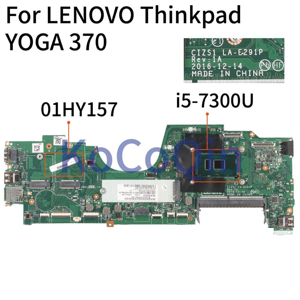 Placa base para portátil KoCoQin para LENOVO Thinkpad YOGA 370X370 placa base 01HY157 LA-E291P SR340 i5-7300U