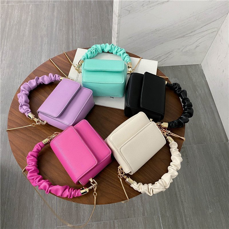 PU Leather Shoulder Bags For Women 2021 Chain Design Luxury Hand Bag Female Travel bags And Purses S