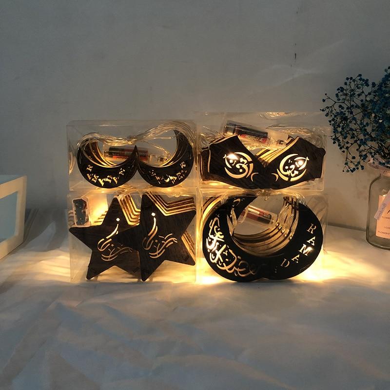 Guirlande de en forme de lune   Décoration pour Ramadan EID Mubarak, fournitures décoratives pour fête danniversaire Baby Show, mariage