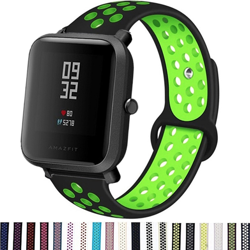 20MM Silicone Straps For Xiaomi Huami Amazfit Bip S/Bip U Lite Smart Watch Band Sports Replace Straps For Amazfit GTS 2 GTR 42MM