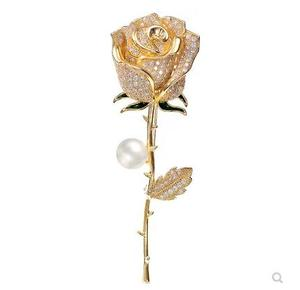 SCB034  18K gold plating brooch for women rose brooch