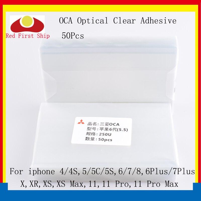 50 unids/lote adhesivo transparente óptico para iphone XR XS Max X 7 8 6 Plus OCA película de pegamento de pantalla táctil para Ipad 5 4 3 2 Mini Pro OCA