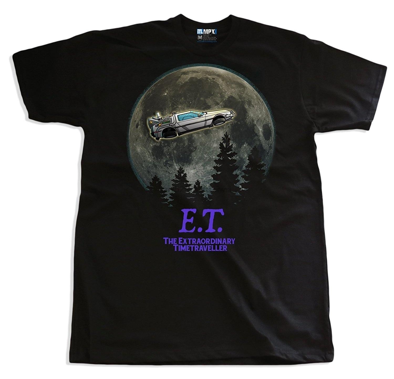 E T Teléfono Bock para el futuro Deloreon Mosh a para hombre Camiseta