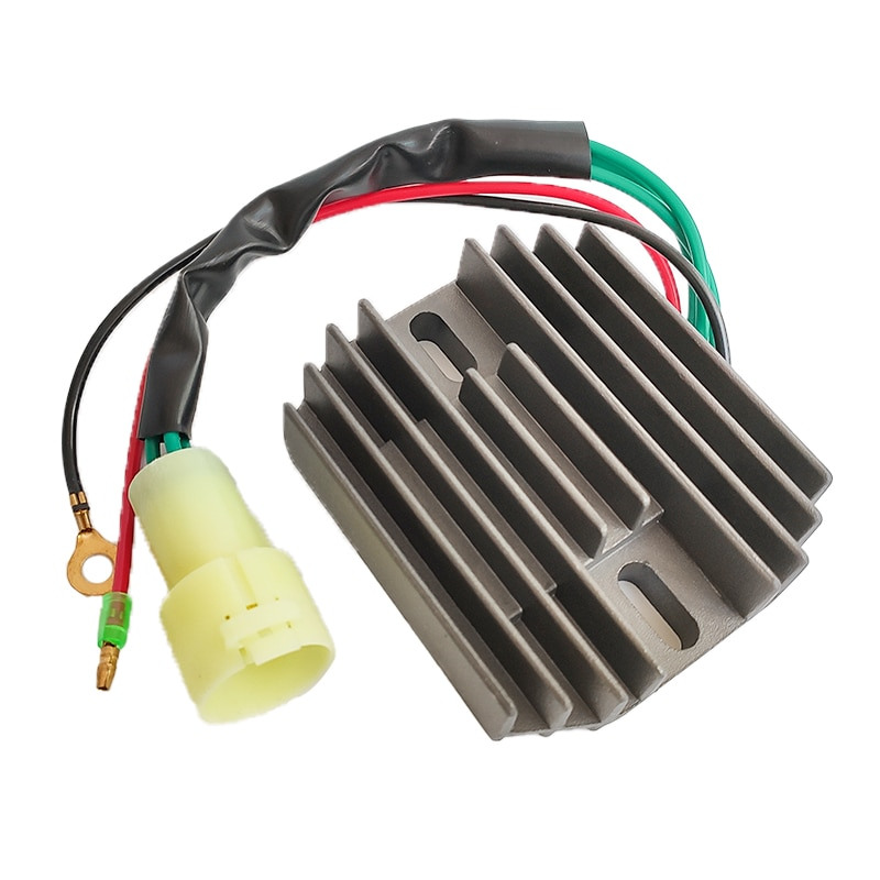 R2027.18 Motorcycle Voltage Regulator Rectifier Fits For YAMAHA MARINE 100 HP 100HP ENGINE Ignition Motorcycle Black DC 12V New yzf600 yzf r6 97 02 motorbike motorcycle voltage rectifier regulator spare part for yamaha