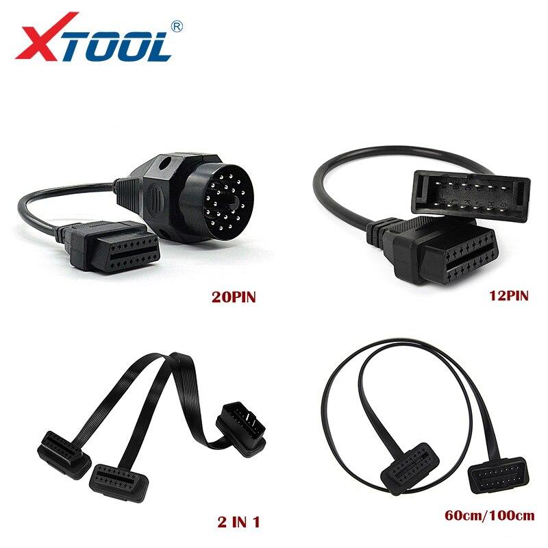 XTOOL Автомобильные диагностические кабели и разъемы OBD удлинительные кабели для BMW 20 pin 60 см/1 м 16Pin Male To 16 pin Female для KIA 20 Pin