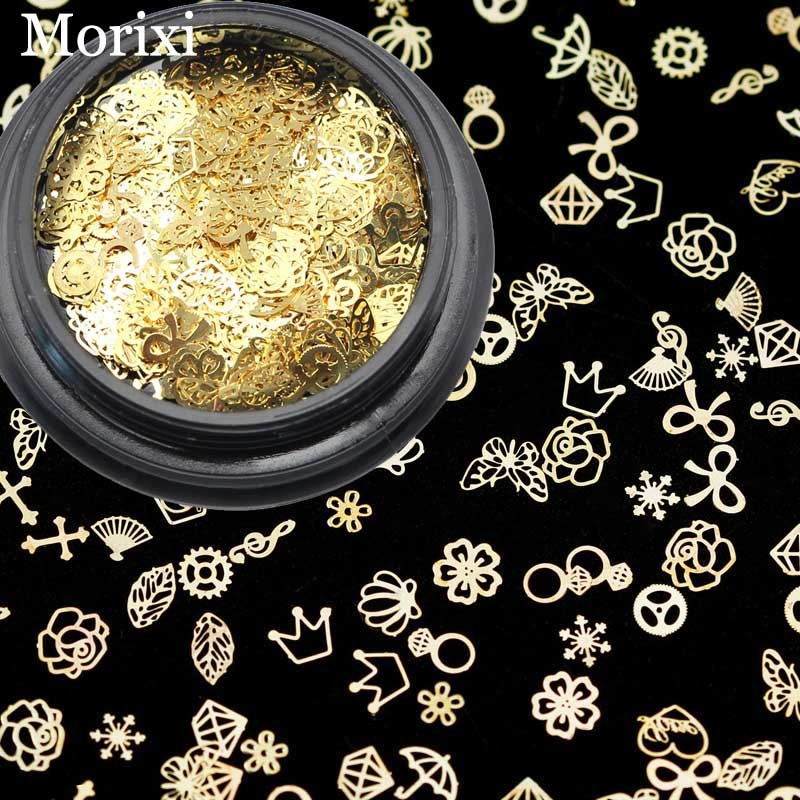3D metal nail art decoration mixed shape gold flowers cross leaves Rivet DIY charms metal sequins nail accessories BZ016 leamx 3d mixed nail rivets round metal nail art decoration 2019 new nail accessories studs rivet diy charms manicure 5 sizes