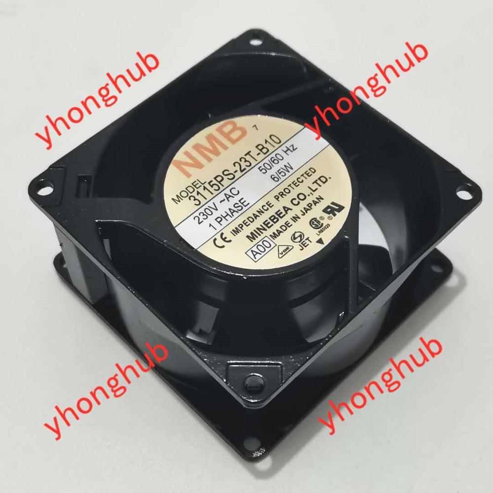 NMB-MAT 3115PS-23T-B10 A00 AC 230V 6/5W 2 piezas 80x80x38mm, ventilador de refrigeración de servidor