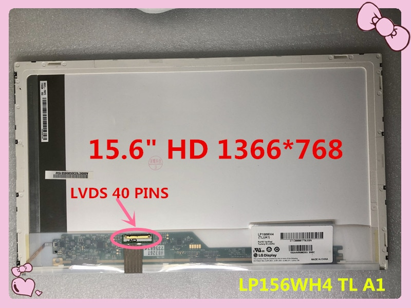 "O ENVIO GRATUITO de 15.6 ""lcd HD portátil screen1366X768 LP156WH4 TL A1 fit LTN156AT05 LP156WH4 TLP2 N156AT24 LTN156AT17 LTN156AT32"