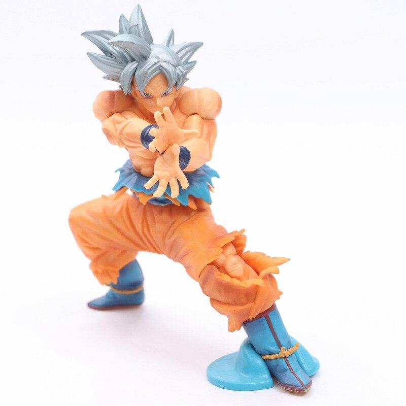 Dragon ball super saiyan guerreiros son goku figura brinquedo ultra instinto gokou prata cabelo esculturas grandes bwfc modelo bonecas 17.5cm