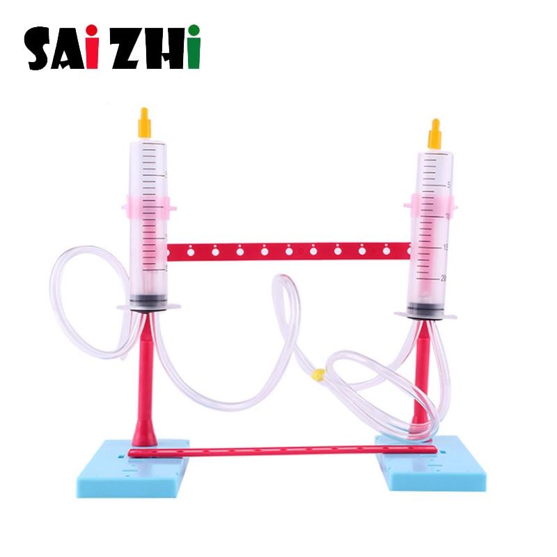 Fuente Saizhi equipo de prueba Souptoys Siphon phenhenem juguetes cognitivos para niños invenciones cientificas Kits de utilería Juguetes