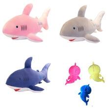 Mignon en peluche Silicone jouets requin poupée en peluche requins oreiller cadeau danniversaire cadeau de vacances pour les garçons et les filles