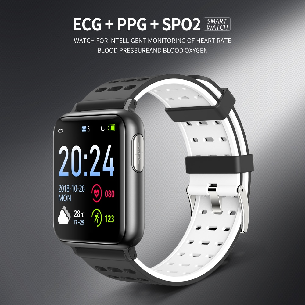 Электронные умные часы с экраном сердцебиения, умные часы, женские Водонепроницаемый Ip67 Smartwatch измерения Смарт-часы для мужчин крови Давлен...