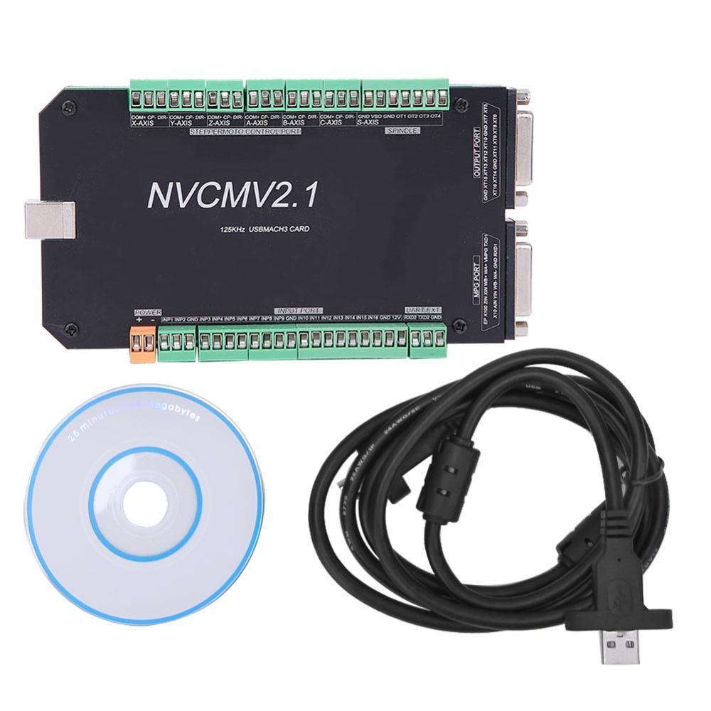 NVCM 5-осевой ЧПУ контроллер MACH3 USB интерфейс плата карта для шагового двигателя Высокое качество Новый