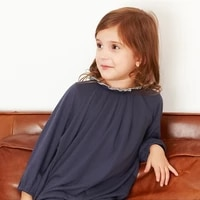 kids girls dresses long sleeve spring and summer 2021 cotton casual baby children clothing navy blue clothes for 2 to 10 years
