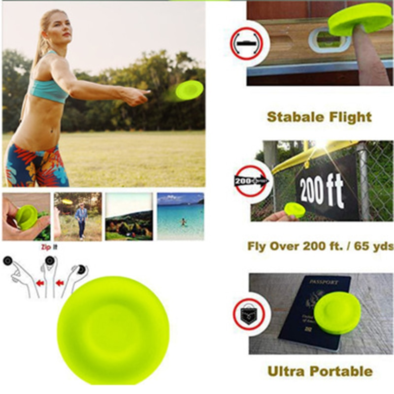 6,5 CM divertido mini frisb circular silicona disco juego padre-niño juguete de dedos interactivos deportes al aire libre platillo volador