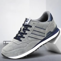 mens leather sneakers light non slip running shoes breathable casual sports men shoes fashion flat shoes