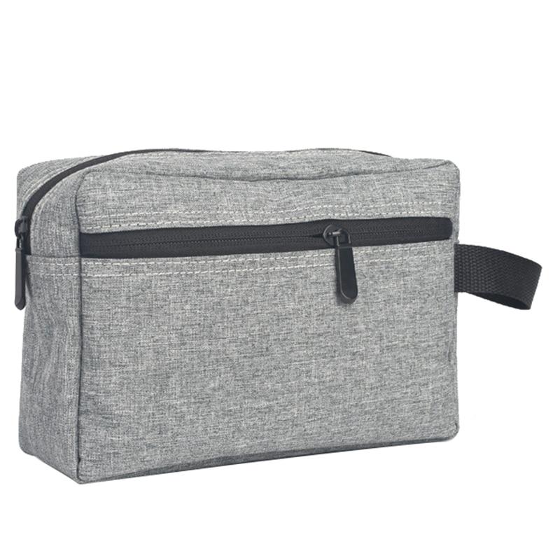 Gray 1 Pc Travel Men Wash Bag Waterproof Makeup Bag Toiletry Wash Kit Storage Pouch for Women Cosmetic Bag