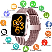 LIGE New 1.69 Inch Full Touch Smart Watch Women Men Student Sport Fitness Waterproof Blood Pressure